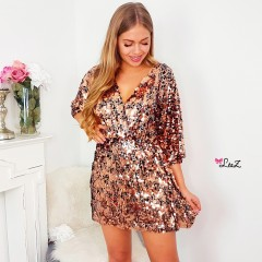 Robe all sequin bronze