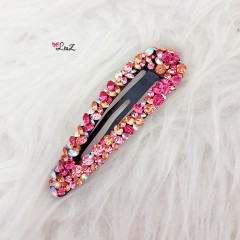 Barrette cristaux rose