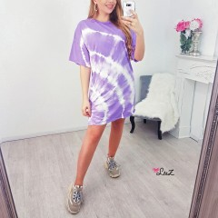 Robe t-shirt large tie & dye violet