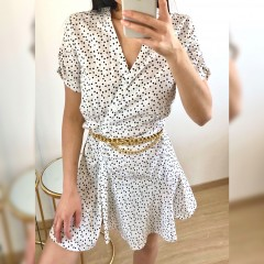 Robe fluide mini heart blanc