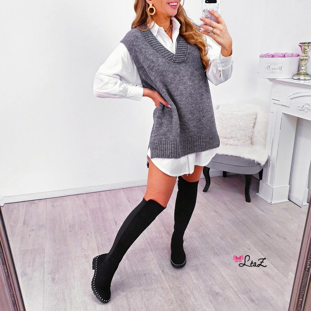 Robe Chemise Pull Collection D Automne Leaz