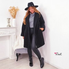 Manteau teddy bear noir