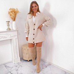 Cardigan long nude