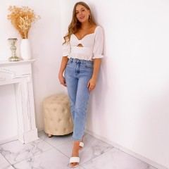 Jeans mom must-have blue