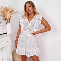 Robe total broderie anglaise white