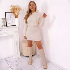 Robe pull sweat maille nude