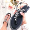 Sandales diamants noires