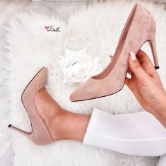 Escarpins stilleto daim nude