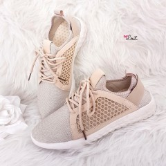 Basket running maille nude