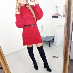 Robe-pull simplicity rouge