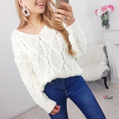 Pull tricot Alyce blanc