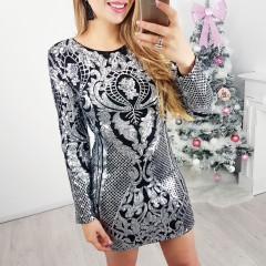 Robe inspi dos ouvert argent