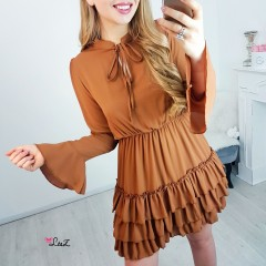 Robe volants camel