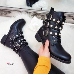 Bottines motardes perles
