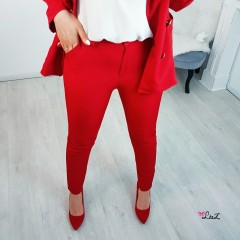 Pantalon tailleur girl boss rouge