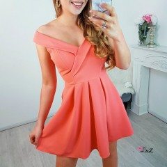 Robe gala peachy