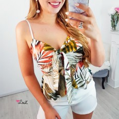 Crop top noué jungle
