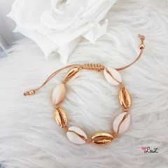 Bracelet cheville coquillages cauris