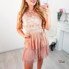 Robe cuteness dentelle rose