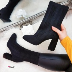 Bottines chaussettes black