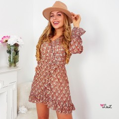 Robe champêtre chic rouille