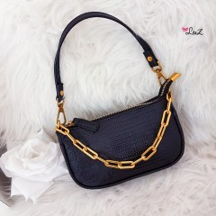Mini sac à main chainette noir